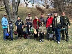 Lt. Hummel with proud young anglers